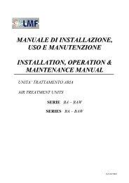 manuale di installazione, uso e manutenzione installation ... - Vortvent