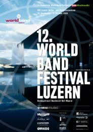 Co-Produktion World Band Festival & KKL Luzern Kultur- und ...