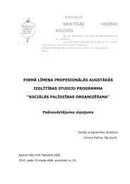 SPO Pašnovērtējums 2010 - Kristīgās vadības koledža