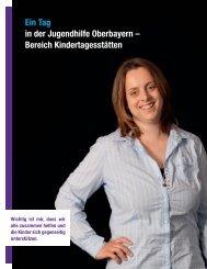 Ein Tag in der Jugendhilfe Oberbayern – Bereich Kindertagesstätten