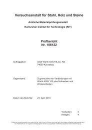 Prüfbericht Nr. 106122 - Wuerth AG