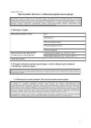 Sprawozdanie okresowe z realizacji programu operacyjnego - EFS