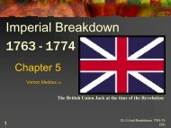 Chap. 5 Imperial Breakdown 1763-1774