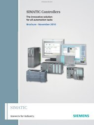 SIMATIC Controllers - The innovative solution for all ... - Industry