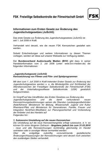 FSK Freiwillige Selbstkontrolle der Filmwirtschaft GmbH - SPIO