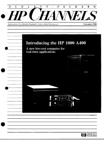 November 1986 - HP Computer Museum