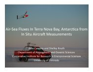 John J. Cassano and Shelley L. Knuth. Air-Sea ... - Antarctic Projects