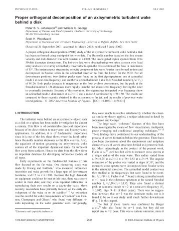 Proper orthogonal decomposition of an axisymmetric turbulent wake ...