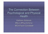 The Connection Between Psychological and Physical Health
