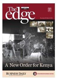 A New Order for Kenya - Strathmore University