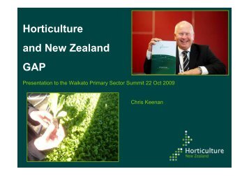 Horticulture and New Zealand GAP - Waikato Regional Council