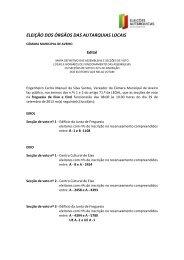eleição dos órgãos das autarquias locais - Câmara municipal de ...