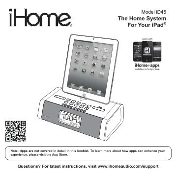 Ihome manual Ipl10