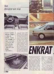 Prenesi PDF testa Peugeot Peugeot 605 SVdt - Avto Magazin