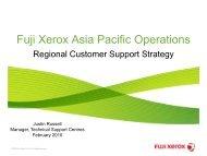 Fuji Xerox Asia Pacific Operations - Service Strategies