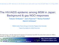 The HIV/AIDS epidemic among MSM in Japan: Background & gay ...