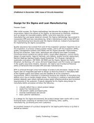 Design for Six Sigma and Lean Manufacturing