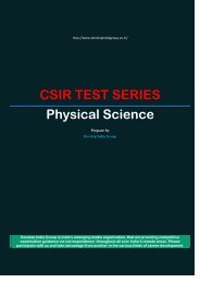 CSIR TEST SERIES Physical Science - developindiagroup.co.in