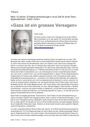«Gaza ist ein grosses Versagen» - Netzwerk Schweiz für einen ...