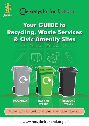 Your GUIDE to Recycling, Waste Services - Rutland County Council