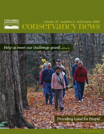 Fall 2009 - Columbia Land Conservancy