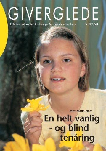 Giverglede 3/2001 - Norges Blindeforbund