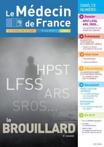 Médecin de France n°1142 - CSMF