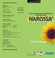 Call for Papers - NAROSSA