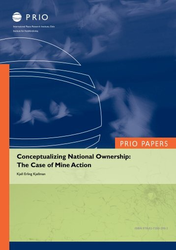 Conceptualizing National Ownership - PRIO