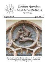 Ausgabe Nr. 26, Juni 2012 ( PDF -Datei, 205 kB) - Katholische ...