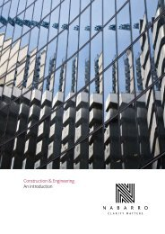 Construction & Engineering An introduction - Nabarro