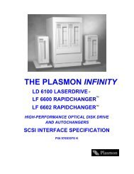 scsi interface specification - Plasmon