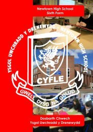 to view the Sixth Form prospectus - Newtown High School