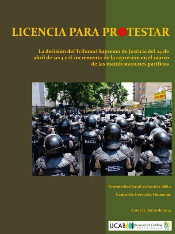 licencia para protestar