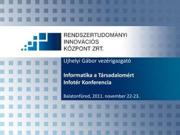 Rendszertudományi Innovációs Központ - Infotér