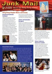 News for Hong Kong alumni