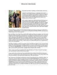 dISCOURS DE REMERCIEMENTS - Eurordis