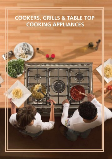 COOKERS, GRILLS & TABLE TOP COOKING APPLIANCES - Wansa