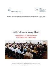 Mellem innovation og LEAN - SCKK