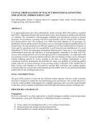 clonal propagation of walnut rootstock genotypes for genetic ...