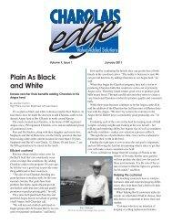 Plain As Black and White - American International Charolais ...