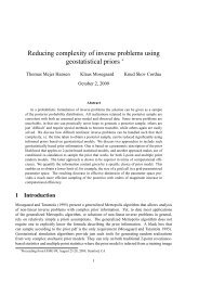 Reducing complexity of inverse problems using geostatistical priors ∗