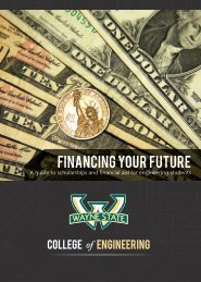 financing your future - College of Engineering - Wayne State University