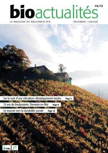 bio actualités 10/12 - bioactualites.ch