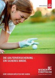 Kundeninformation Golfversicherung - Wiener Städtische