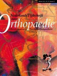 ONederlands Tijdschrift voor - Nederlands Tijdschrift voor Orthopaedie