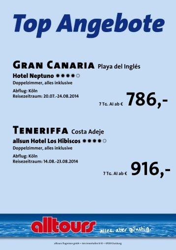 Gran Canaria Playa del Inglés Hotel Neptuno NNNN ... - Alltours
