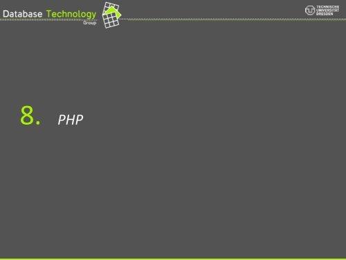 PHP - Datenbanken