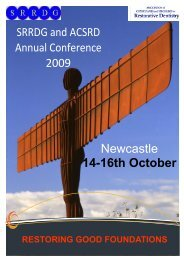 SRRDG and ACSRD Annual Conference 2009 14-16th October ...