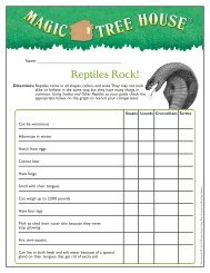 Reptiles Rock! - Magic Tree House
